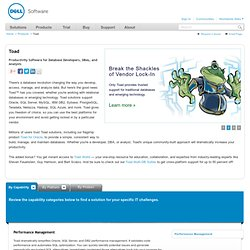 Toad - SQL Tuning, Database Development & Administration Software