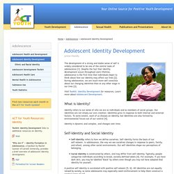 Adolescent Identity Development - Adolescence - ACT for Youth