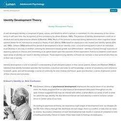 Identity Development Theory