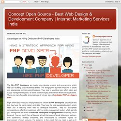 Advantages of Hiring Dedicated PHP Developers India