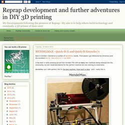 Reprap development and further adventures in DIY 3D printing: MENDELMAX - Quick-fit X and Quick-fit Extruder/s
