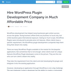 Wordpress Plugin Development Company Helping to Enhance Functionality of Website
