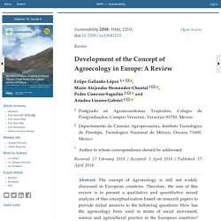 Sustainability 2018, 10(4), 1210; Development of the Concept of Agroecology in Europe: A Review