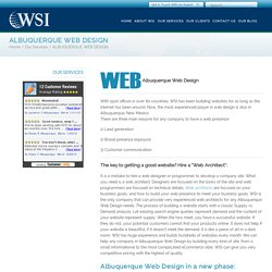 Website Design & Development in Albuquerque by WSI