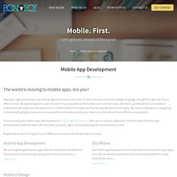 Mobile Apps Development India, Android, ios, iphone, Ui Design - Bonoboz