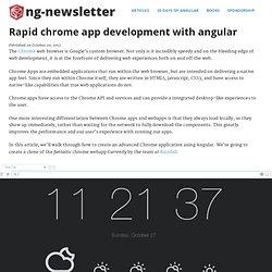 Rapid chrome app development with angular