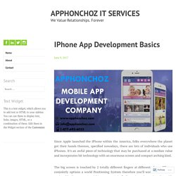 IPhone App Development Basics – APPHONCHOZ IT SERVICES