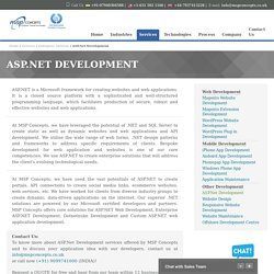 ASP.NET Development - For Complete Web Solutions For Online Business