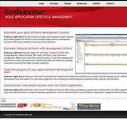 Project management, requirements, collaboration, and task software: Endeavour