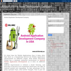 Android Phone Apps Development Company : Android Application Development Company