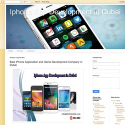 Iphone App Development in Dubai: Best iPhone Application and Game Development Company in Dubai
