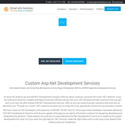 ASP.NET Development Company, .Net Application Development