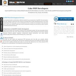 Cakephp Development Company Services, Custom Cakephp Application Developer