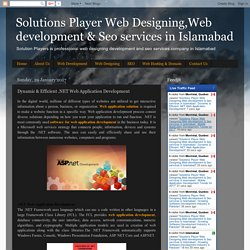 Solutions Player Web Designing,Web development & Seo services in Islamabad : Dynamic & Efficient .NET Web Application Development