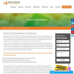 Node JS Web Development Company India