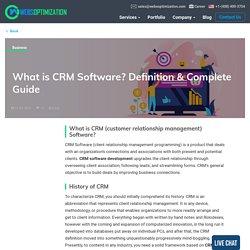 CRM Software Application Development