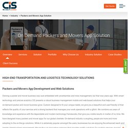 Packers and Movers App Development