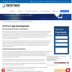 Android Apps Development - Android Application Development Company India
