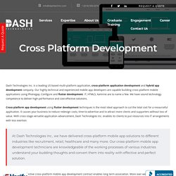 Cross Platform Development - Website & Mobile Application Development