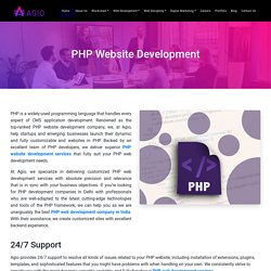 PHP Web Development Company Your Growth Catalyst in Delhi