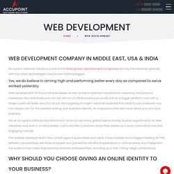 Top Web development company in Middle East, India & USA
