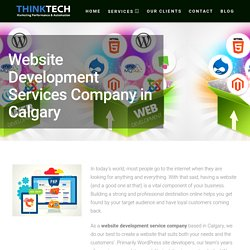Website Development Services Company/Web Application Agency Calgary, Edmonton
