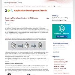 Exploring PhoneGap / Cordova for Mobile App Development - Application Development Blog - Dunn Solutions Group
