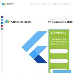 Why choose flutter for app development?