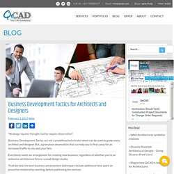 Business Development Tactics for Architects and Designers