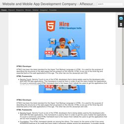 Website and Mobile App Development Company - AResourcePool: Hire the Right HTML5 Developer in the Country