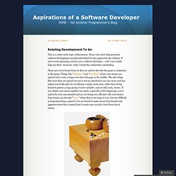 Relating Development To Go Aspirations of a Software Developer