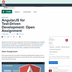 AngularJS for Test-Driven Development: Open Assignment - Tuts+ Code Tutorial
