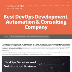 Best DevOps Development, Automation & Consulting Services Company