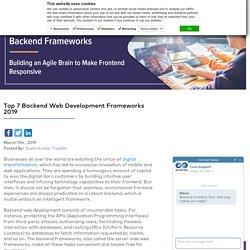 Top 7 Web Development Backend Frameworks in 2019