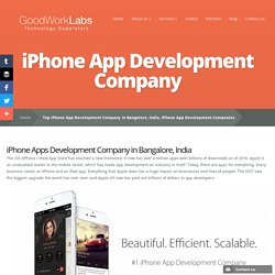 Top iPhone App Development Company in Bangalore, India, iPhone App Development Companies