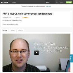 PHP & MySQL Web Development for Beginners — an online course at Learnable