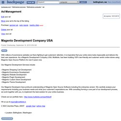Magento Development Company USA - Bellingham computer services - backpage.com