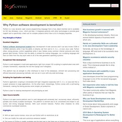 Why Python software development is beneficial?