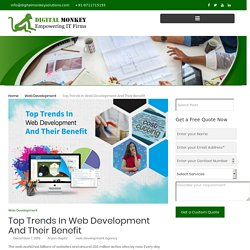 Top Trends In Web Development And Their Benefit