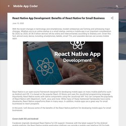 React Native App Development: Benefits of React Native for Small Business