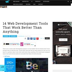 14 Web Development Tools That Work Better Than Anything
