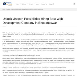 Unlock Unseen Possibilities Hiring Best Web Development Company in Bhubaneswar
