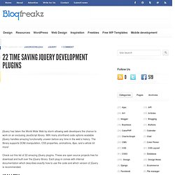 22 Time Saving jQuery Development Plugins