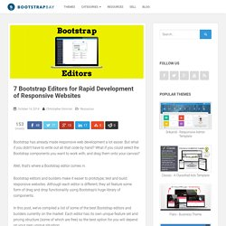 7 Bootstrap Editors for Rapid Development of Responsive Websites - BootstrapBay