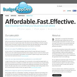 About Us : iPhone App Development Companies : App Development Company UK : BudgetAppDev.com