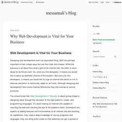 Why Web Development is Vital for Your Business - messamali's blog