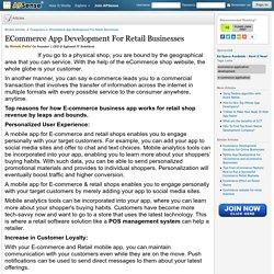 ECommerce App Development For Retail Businesses