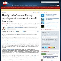 Handy code-free mobile app development resources for small businesses