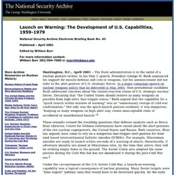 Launch on Warning: The Development of U.S. Capabilities, 1959-1979