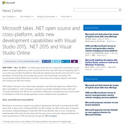 13/11 - Microsoft takes .NET is open source